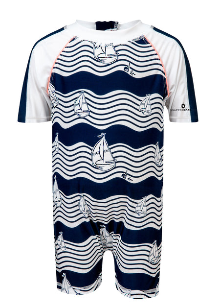 Short Sleeve Ocean Explorer Sunsuit