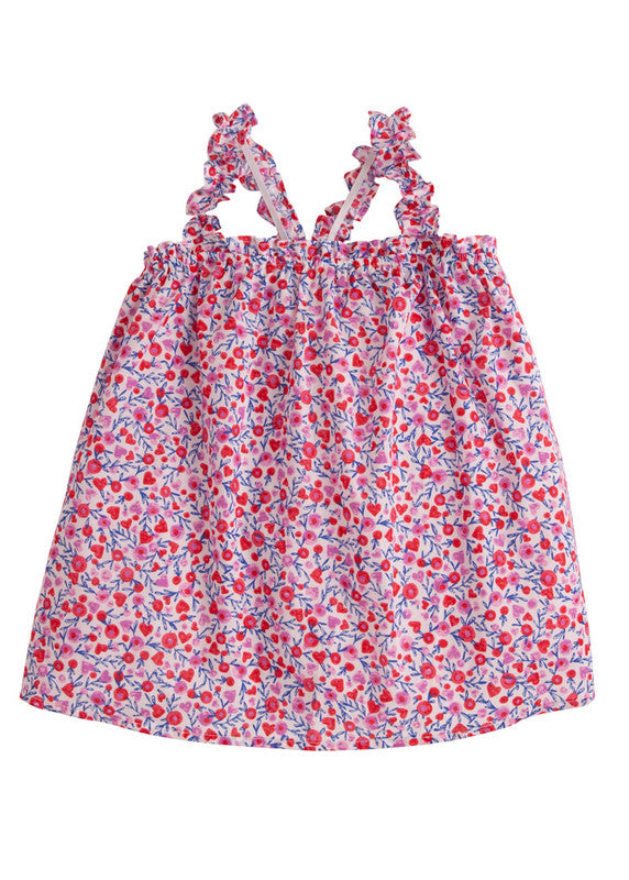 Bisby Michaela Top Valentine Floral - Born Childrens Boutique