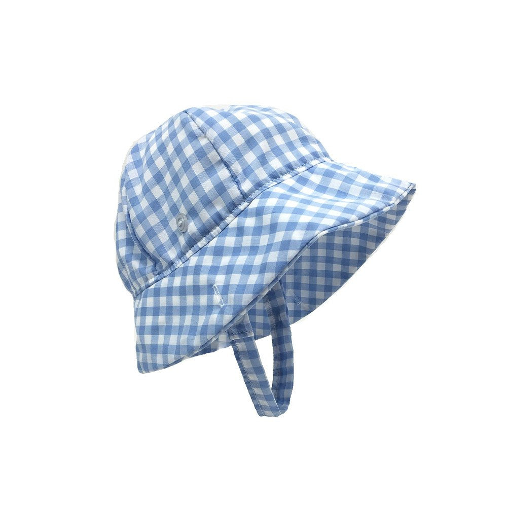 0b3992bfe9526 Beaufort Bonnet Blue Grand Gasparilla Gingham Bucket Hat - Email to Order - Born  Childrens Boutique