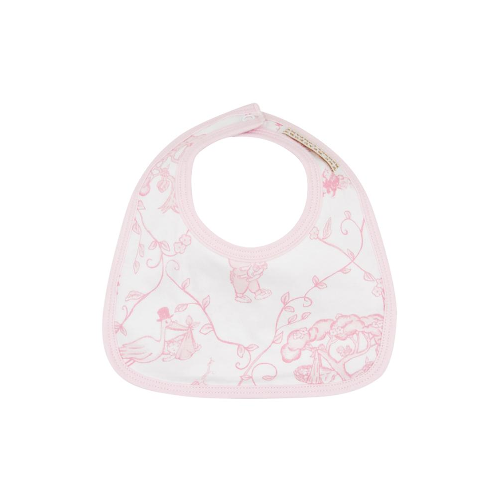 Bellyful Bib - Chinoiserie Charm/Palm Beach Pink - The Born Childrens Boutique