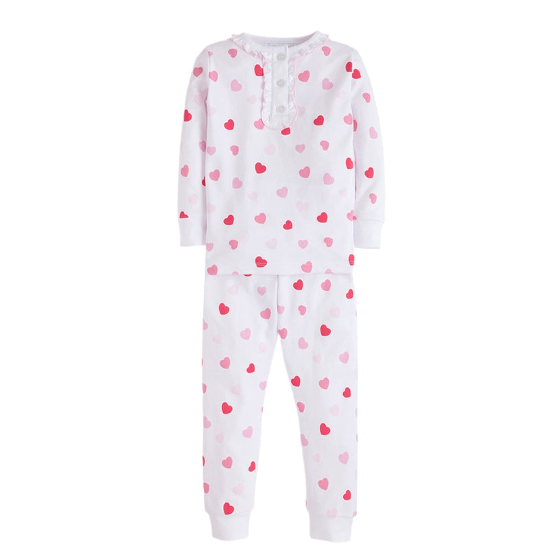Hearts Girl Printed Pajamas - Born Childrens Boutique