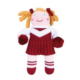 Maroon and White Cheerleader Doll 12 inches - Born Childrens Boutique