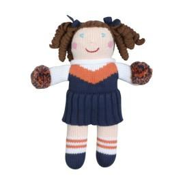 Orange and Navy Cheerleader Doll 7 inches