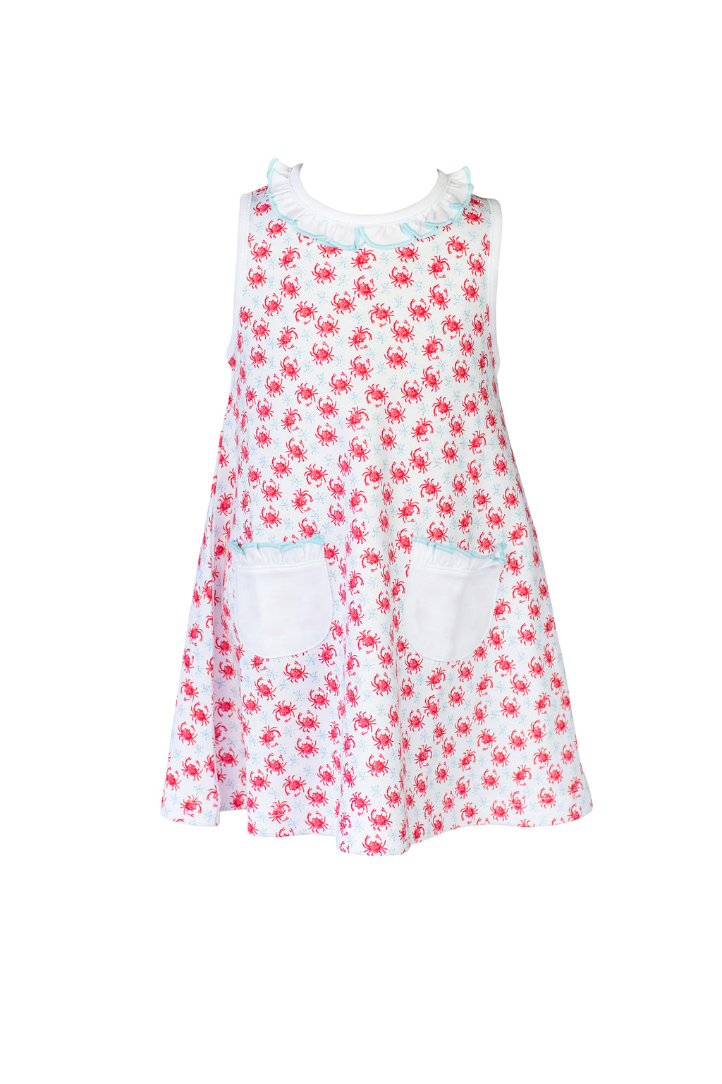 Pre-Order Crab - Girl A-line Dress - Born Childrens Boutique