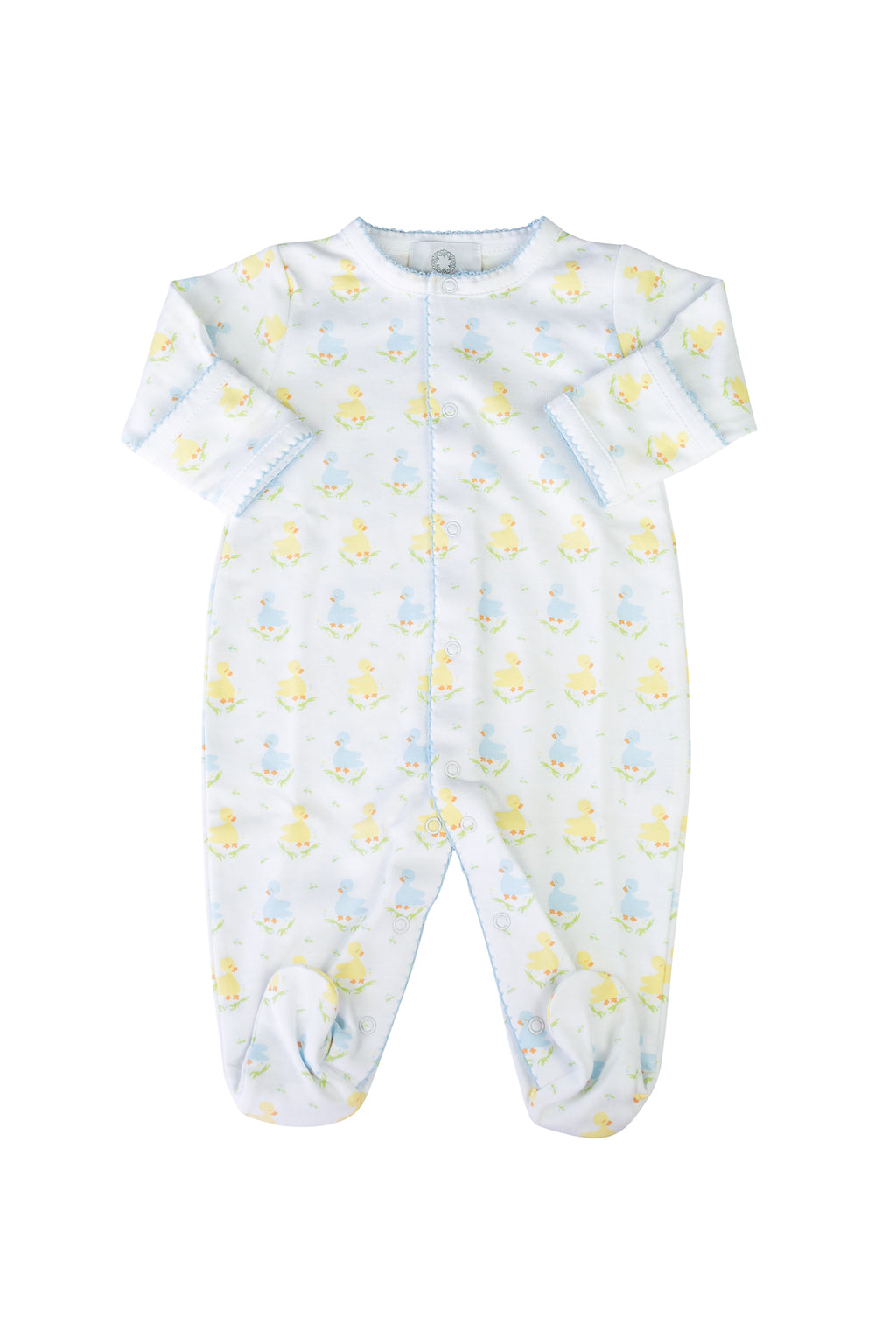 Pre-Order Blue Ducks - Footed Pajamas - Born Childrens Boutique