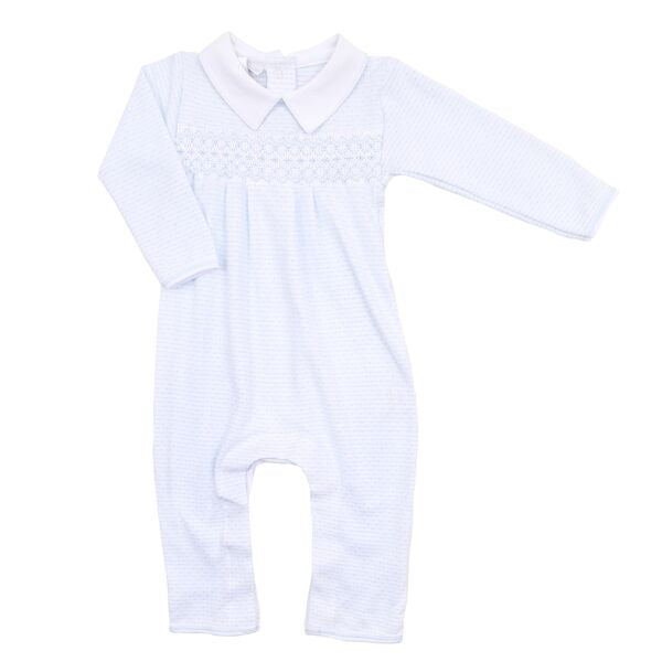 Jillian and Jacob Smocked Playsuit - Born Childrens Boutique