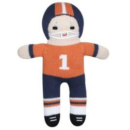 Orange and Navy Football Player Doll 7 inches