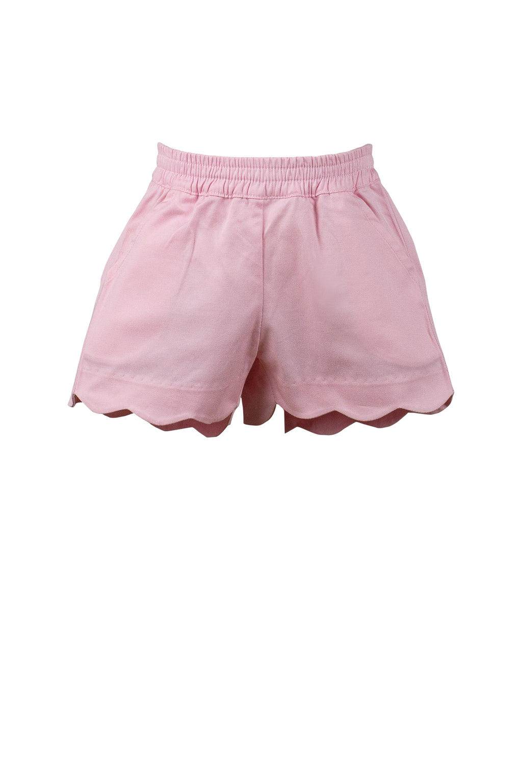 Pre-Order Girl Scallop Shorts - Pink - Born Childrens Boutique