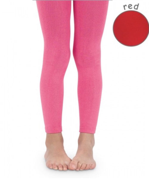 Jefferies Pima Cotton Footless Tights Red