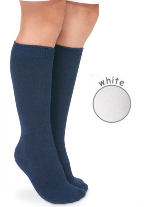 Jefferies Big Hug Knee High (2 pack) White