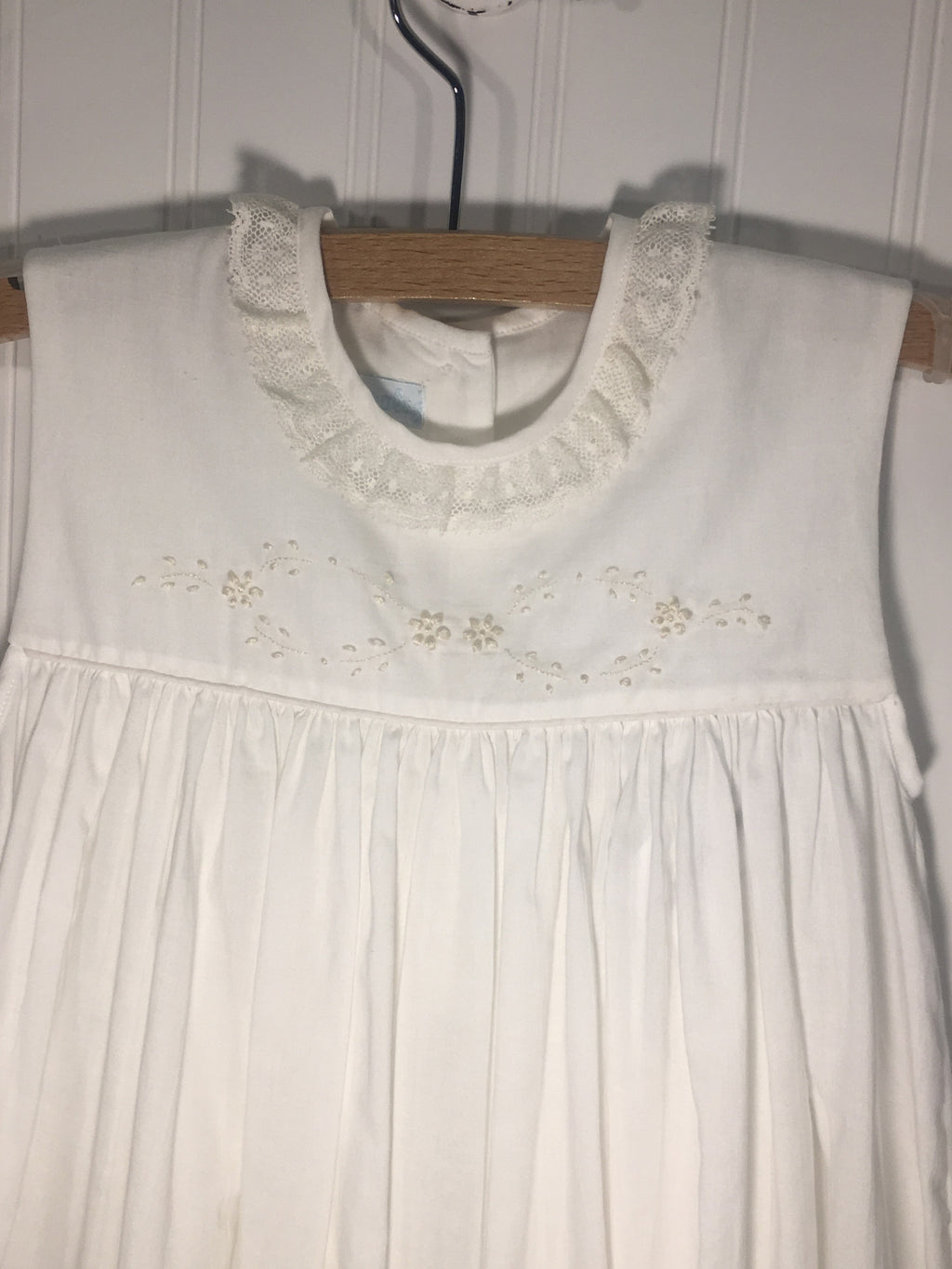 Heirloom Sleeveless Dress White with Ecru - Born Childrens Boutique  - 3