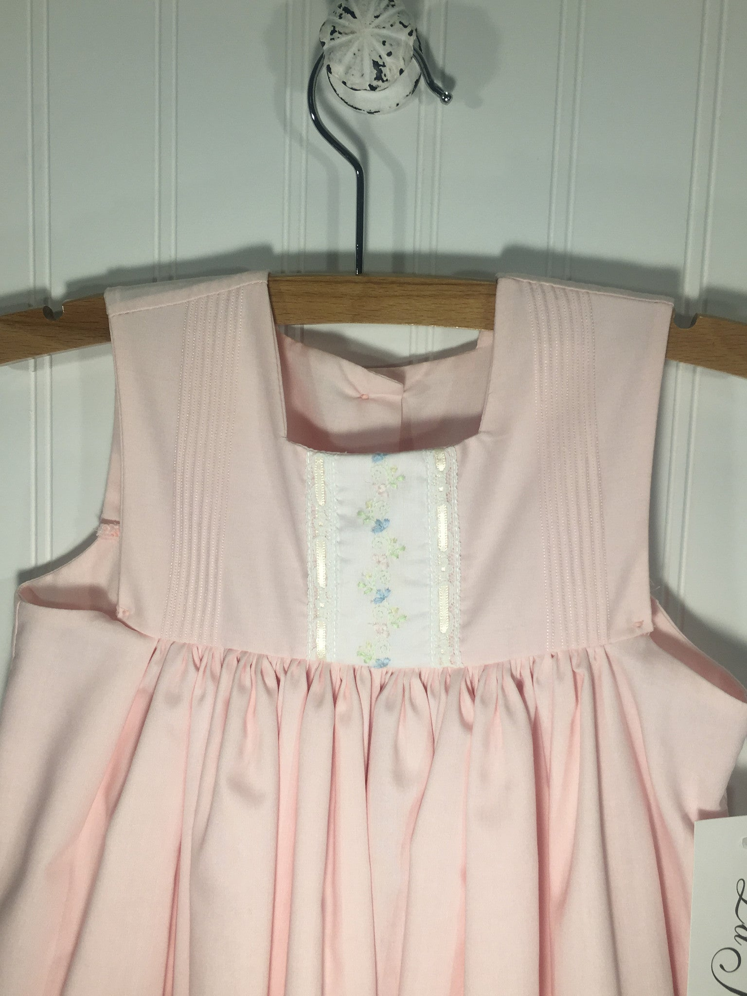 Heirloom Sleeveless Pink Dress - Born Childrens Boutique  - 2