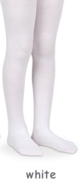 Jefferies Pima Cotton Tights White - Born Childrens Boutique