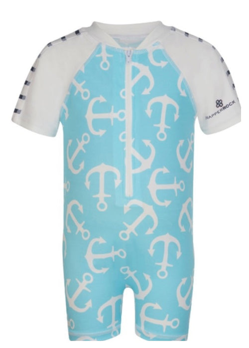 Short Sleeve Sunsuit Anchors