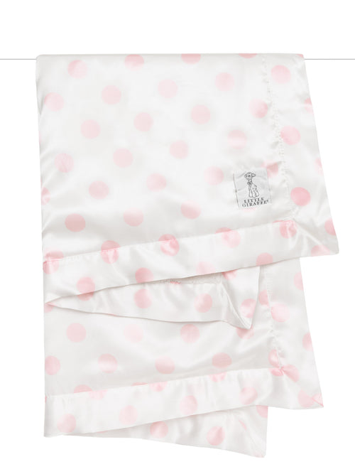 Luxe Cream New Dot Satin Pink Blanket
