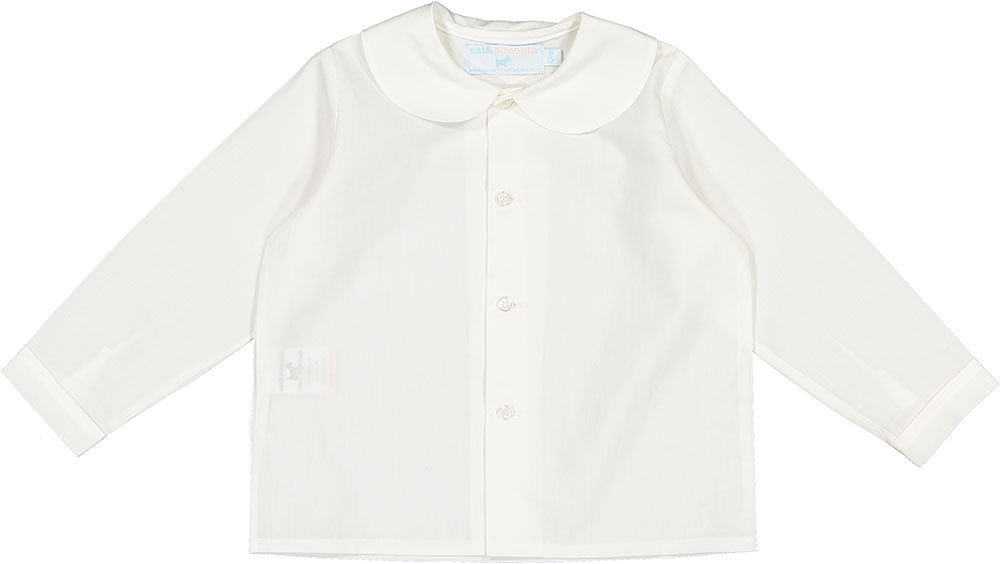 Baby Boy Shirt White - Born Childrens Boutique