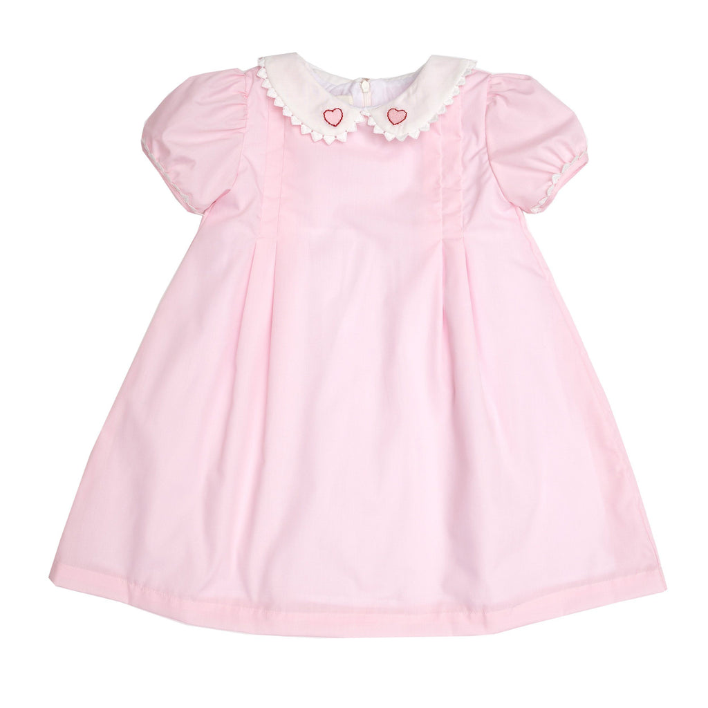 Josie Heart Pink Dress - Born Childrens Boutique