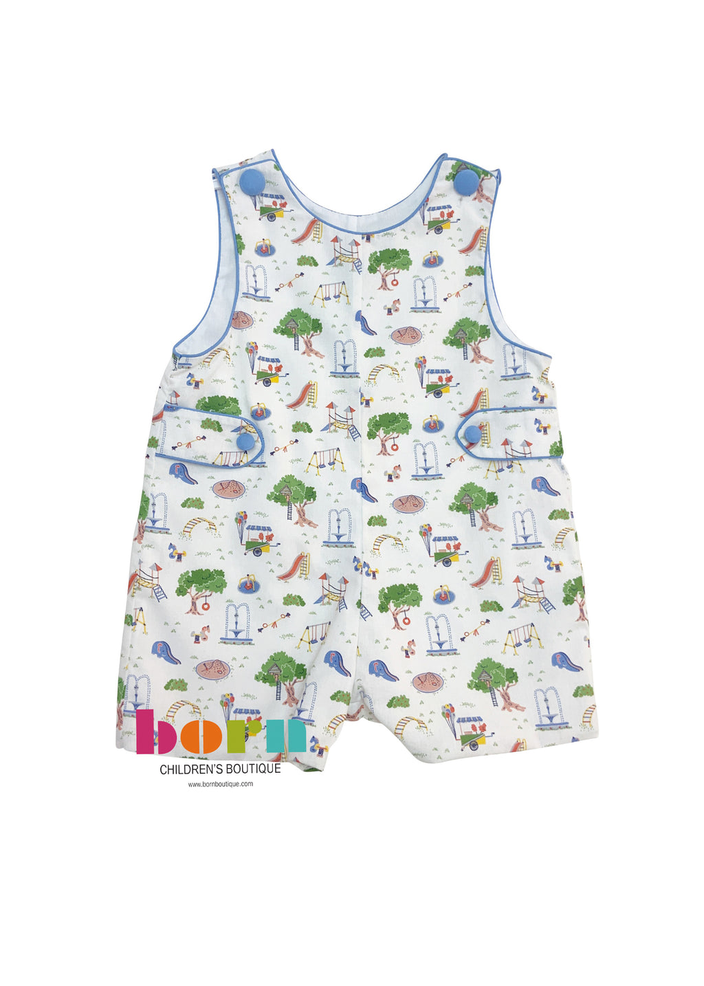 Boy's Jon Jon - Playground Print - Born Childrens Boutique