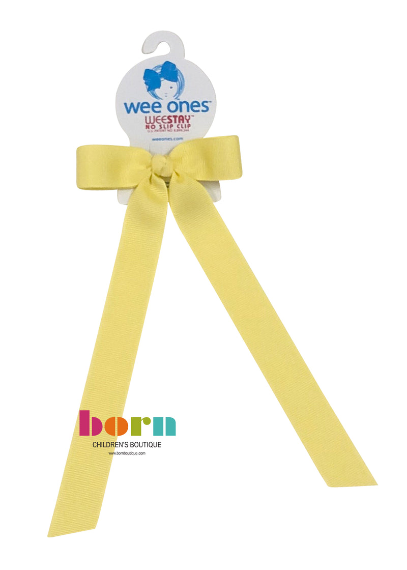 Wee Ones Light Yellow Bow with Tail