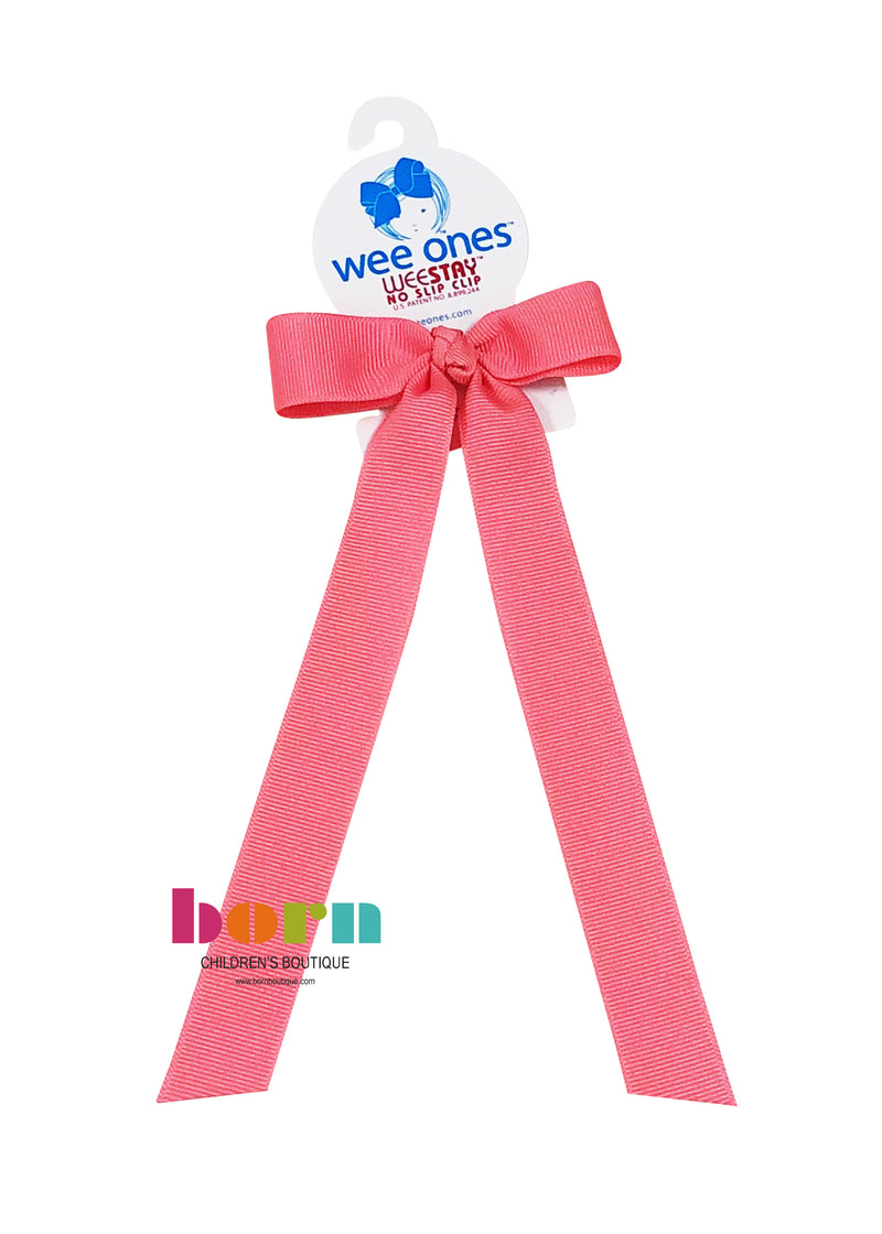Wee Ones Hot Pink Bow with Tail