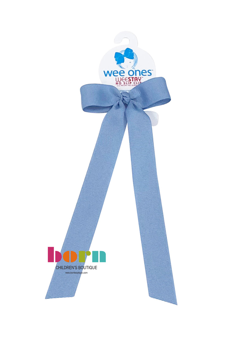 Wee Ones Blue Bird Bow with Tail