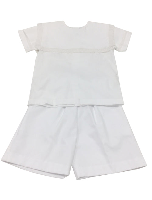 Heirloom Short Set White with Ecru