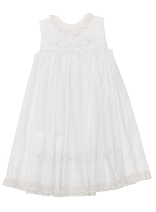 Heirloom Sleeveless Dress White with Ecru