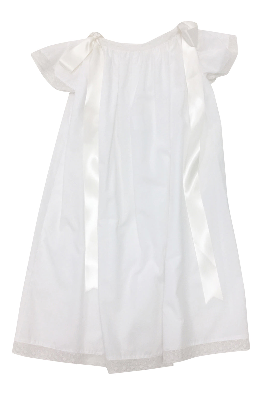 Heirloom Cap Sleeve Dress White with Ecru - Born Childrens Boutique