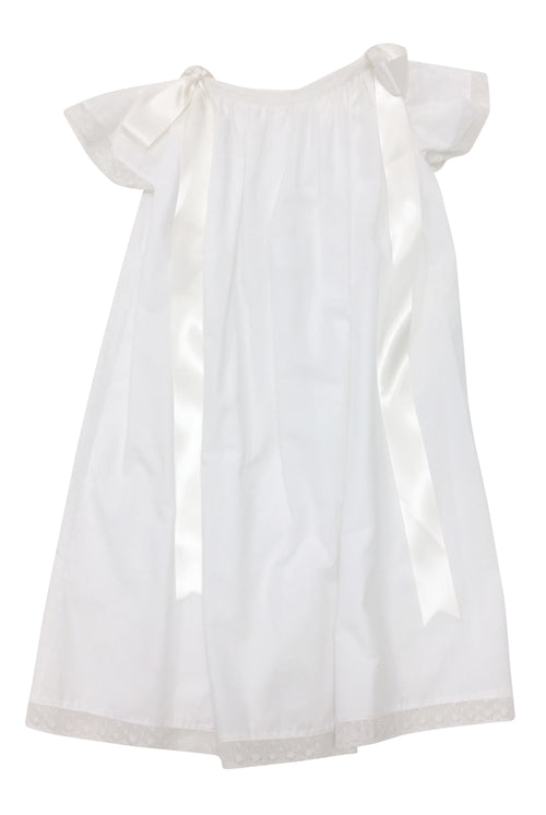 Heirloom Cap Sleeve Dress White with Ecru