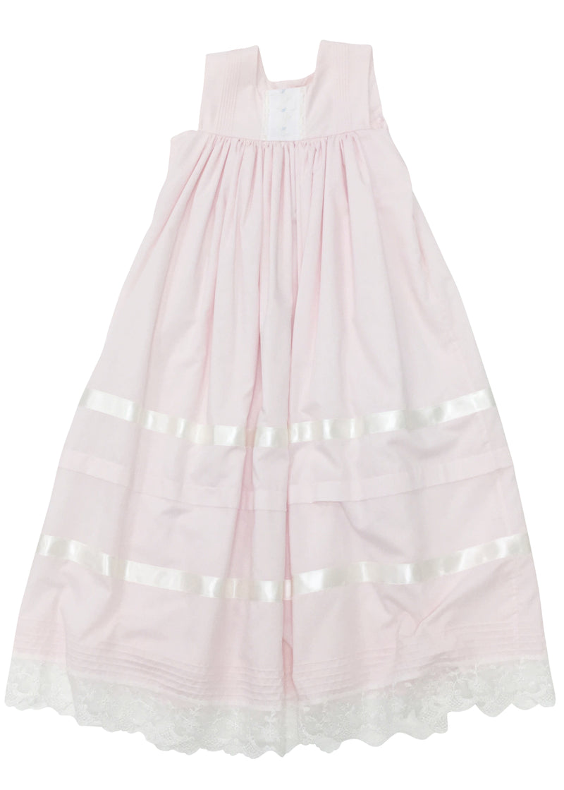 Heirloom Sleeveless Pink Dress - Born Childrens Boutique
