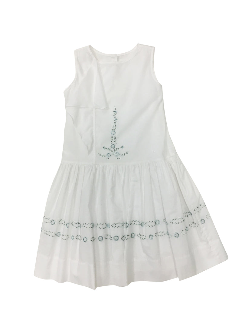 Olivia Dress White - Born Childrens Boutique