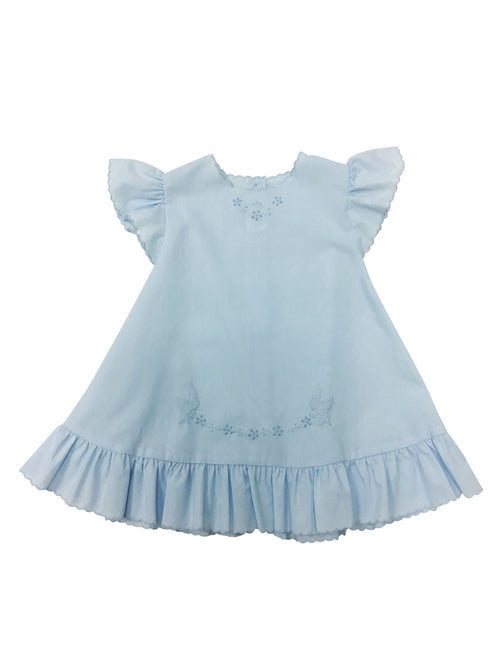 Auraluz Baby Dress Blue Birds
