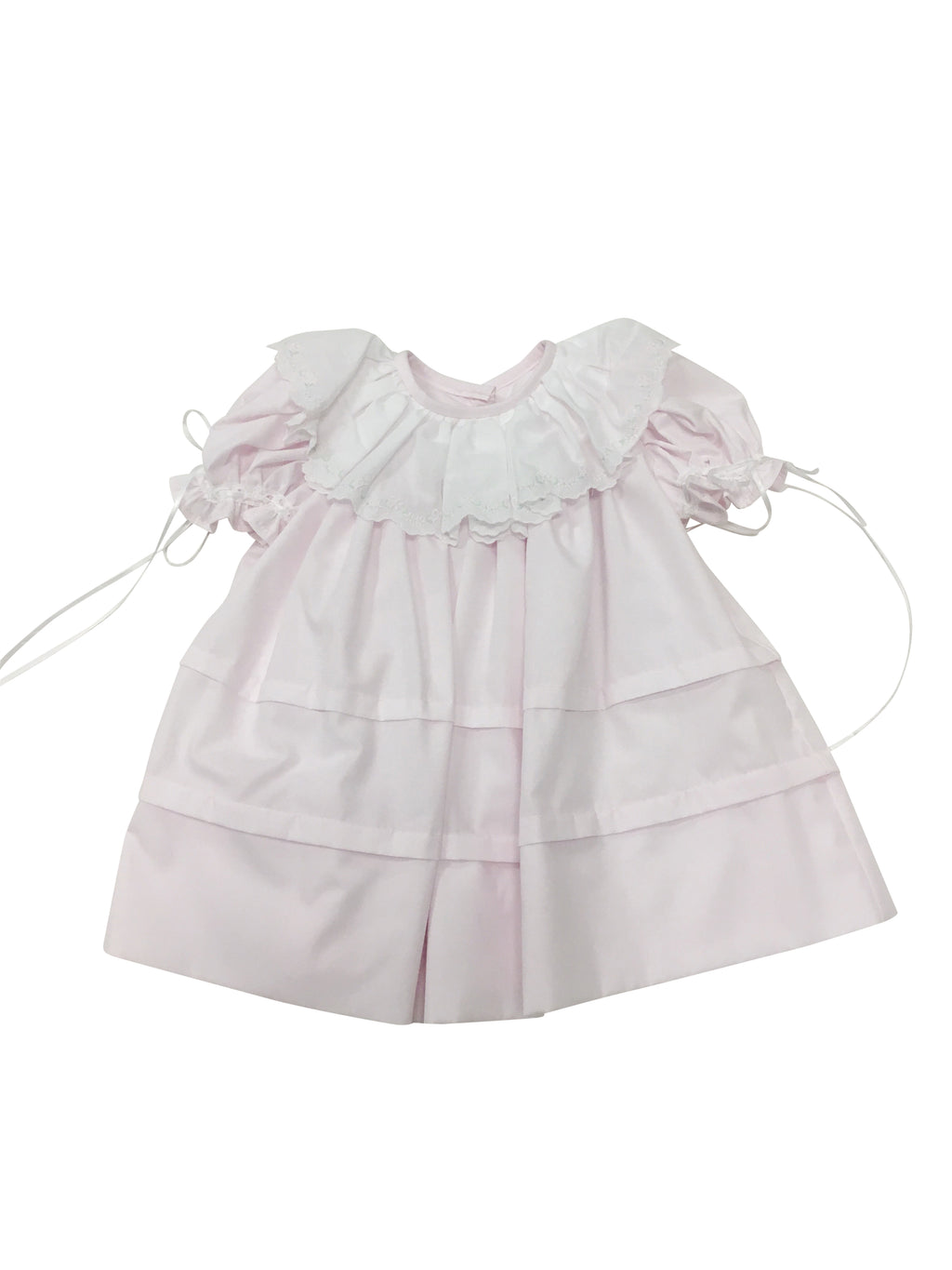 Heirloom Floral Collar Dress Pink - Born Childrens Boutique