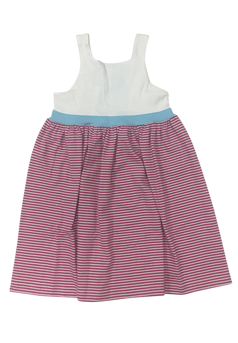 Hot Pink Stripe with Aqua Sundress