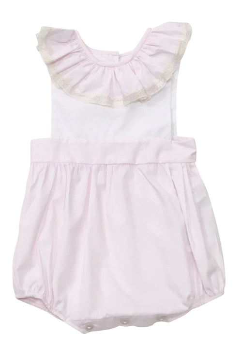 Heirloom Sleeveless Bubble Pink with Ecru