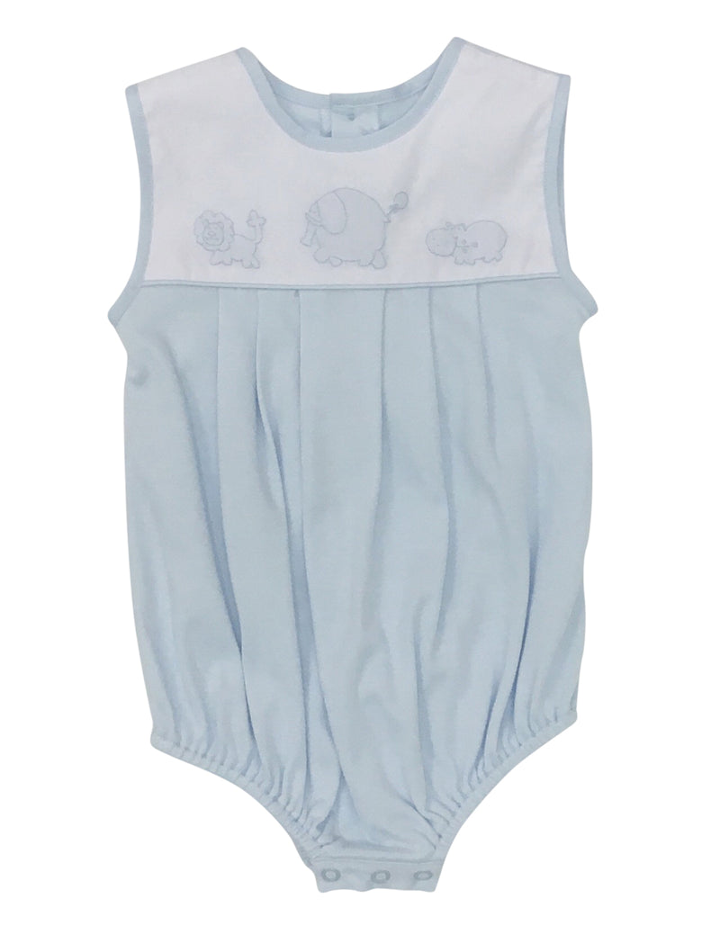 Auraluz Knit Sleeveless Bubble Blue Safari - Born Childrens Boutique
