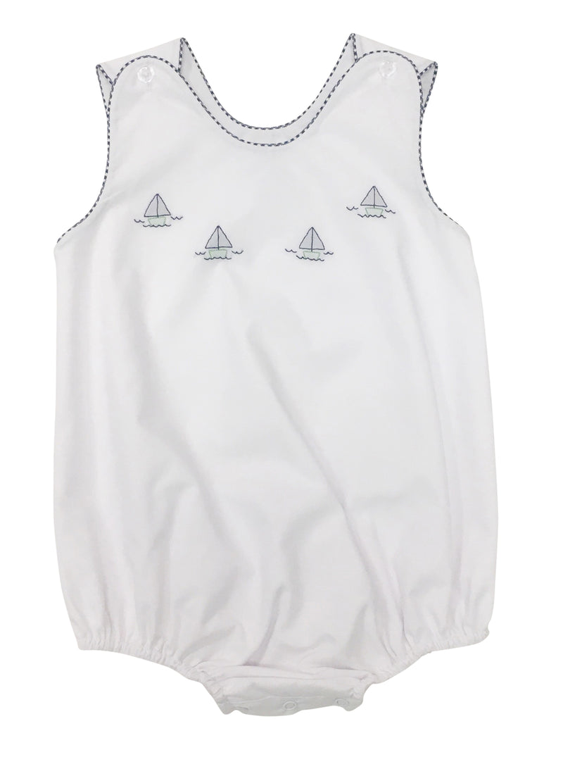 Auraluz White Sunbubble with Navy Boats - Born Childrens Boutique
