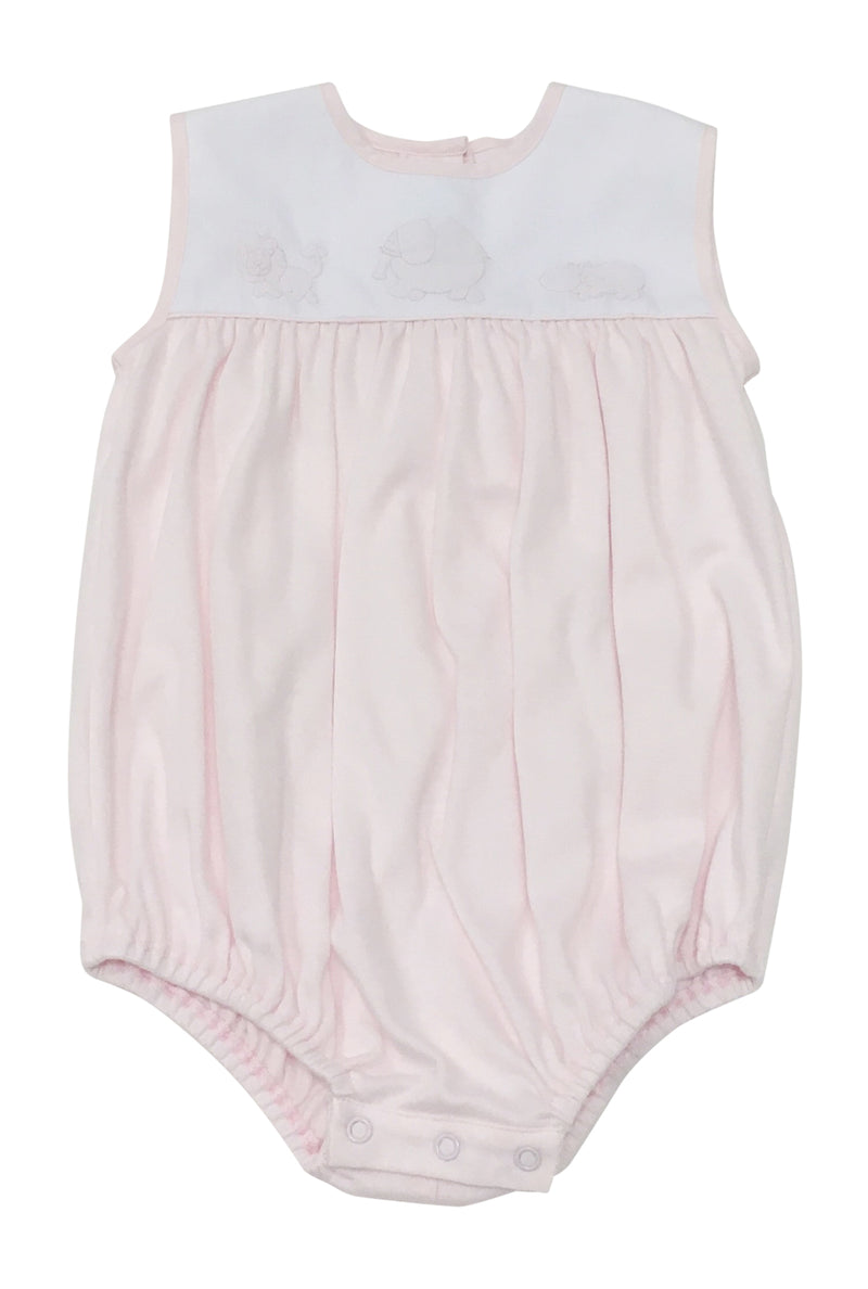 Auraluz Knit Sleeveless Bubble Pink Safari - Born Childrens Boutique