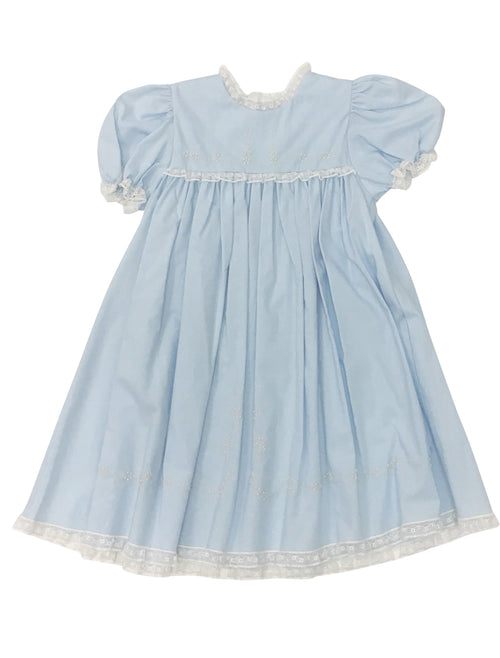 Heirloom Dress Blue/Ecru
