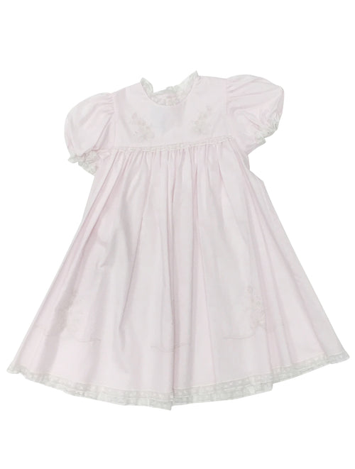 Heirloom Dress Pink/Ecru