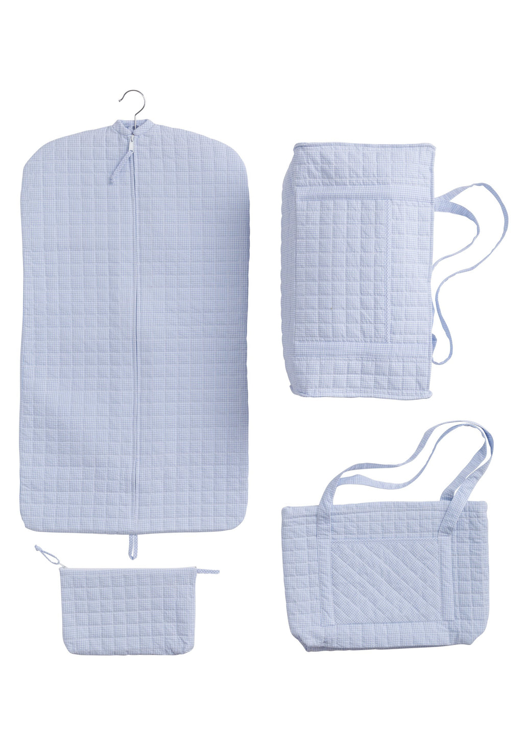 Quilted Blue Garment Bag - Born Childrens Boutique