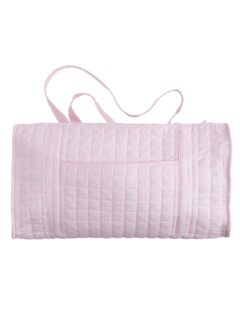Quilted Pink Duffle Bag