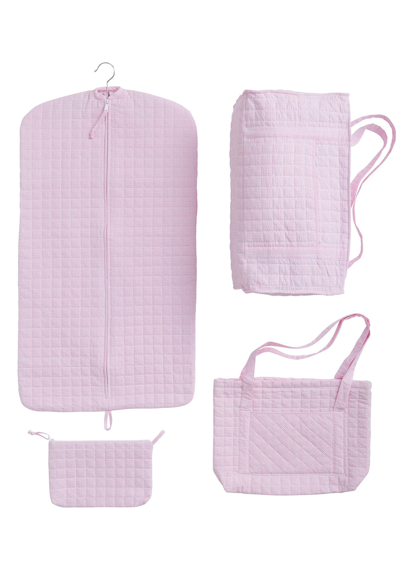 Quilted Pink Garment Bag
