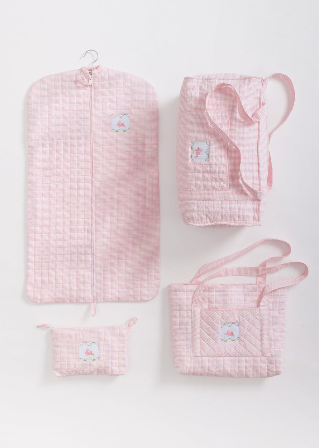 Quilted Pink Bunny Tote Bag
