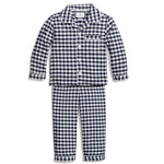 Navy Gingham Twill Pajama Set
