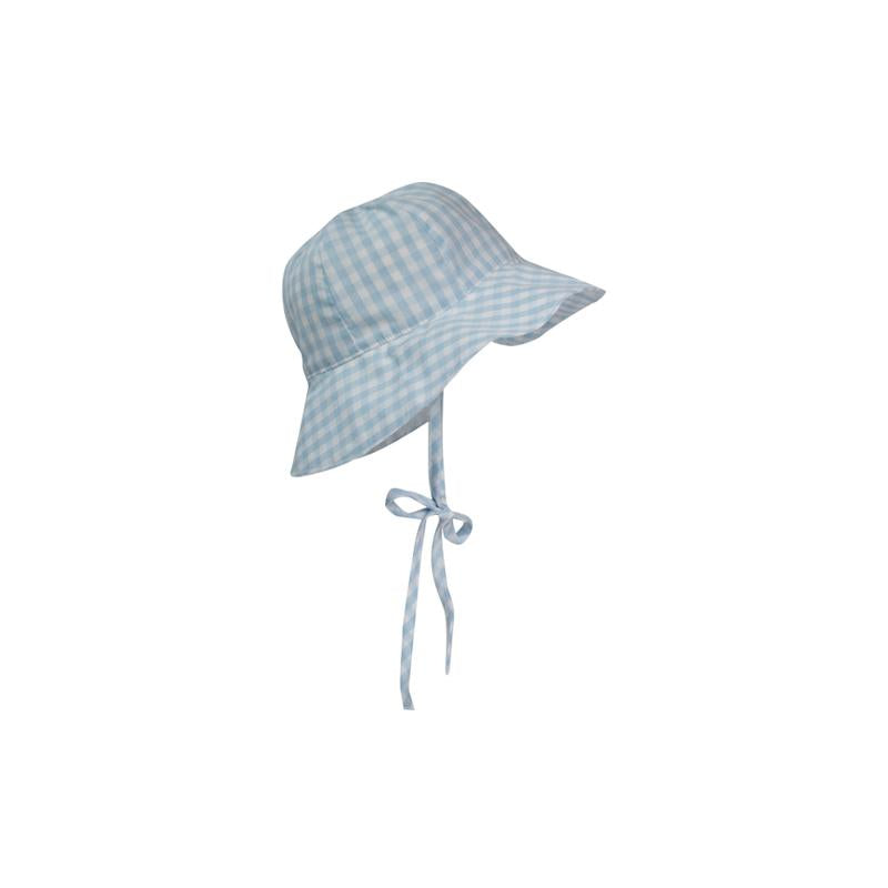 Beaufort Bonnet Sawyer Sun Hat Buckhead Blue Gingham -  Email to Order - Born Childrens Boutique