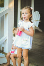 Pre-Order Watermelon Seersucker Bloomer Set - Born Childrens Boutique