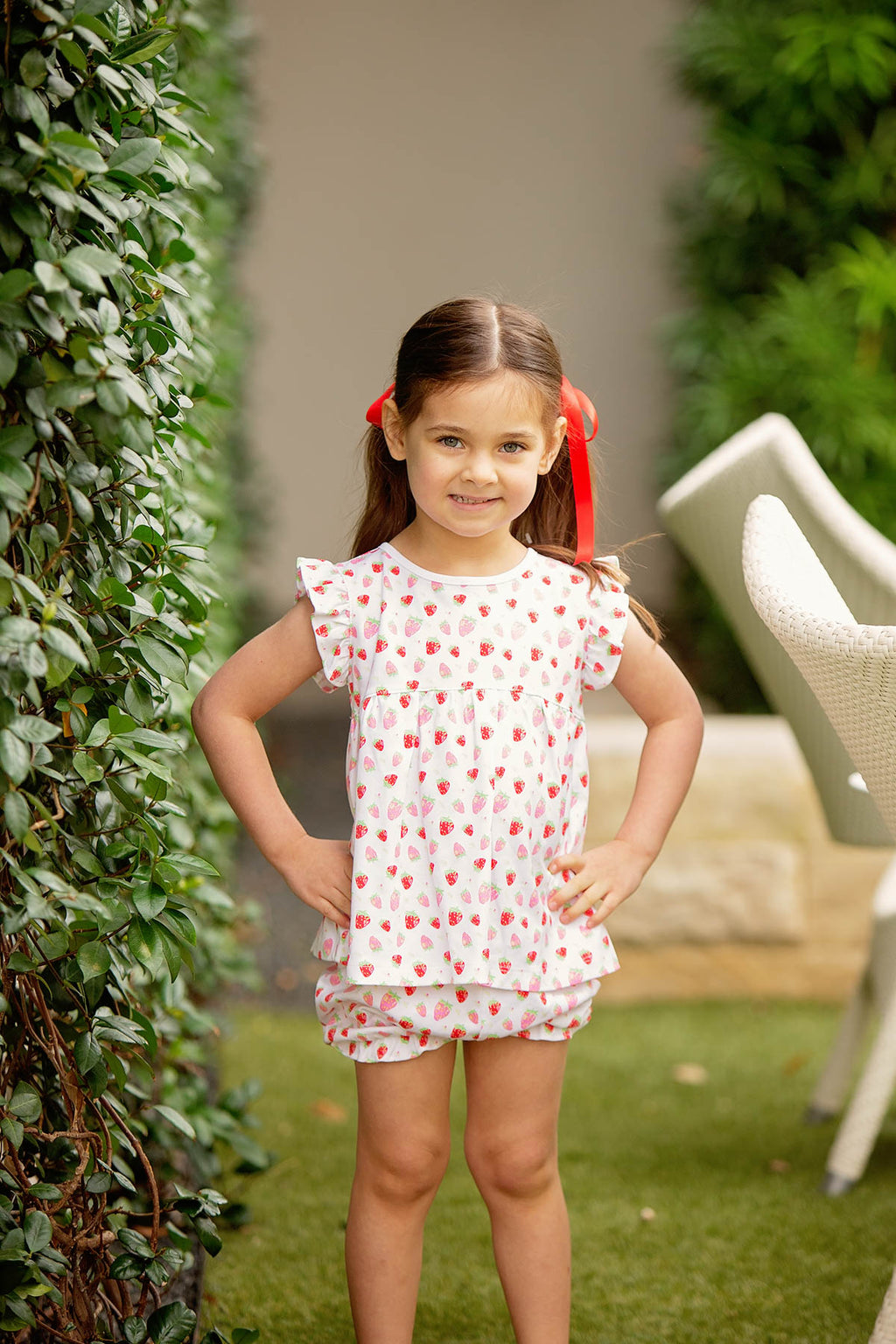 Pre-Order Strawberries - Girl Bloomer Set - Born Childrens Boutique