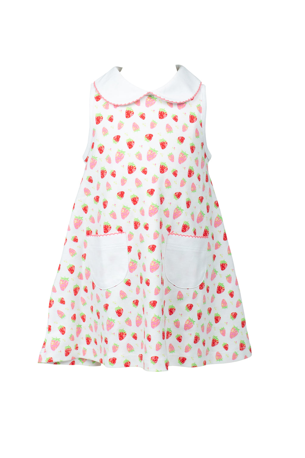Pre-Order Strawberries - Girl A-line Dress - Born Childrens Boutique