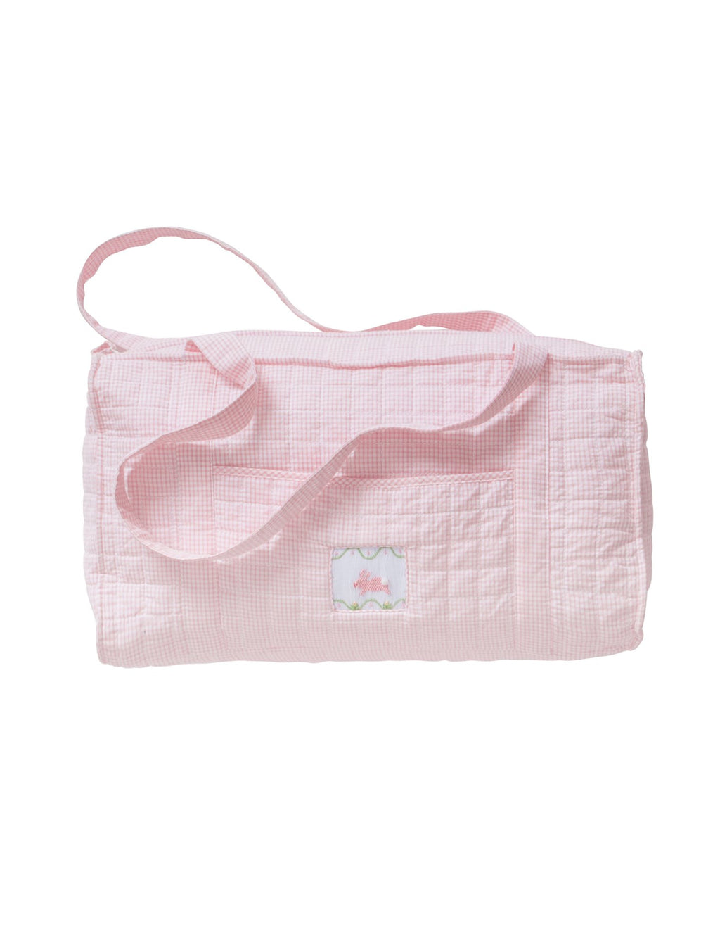 Quilted Pink Bunny Duffle Bag - Born Childrens Boutique